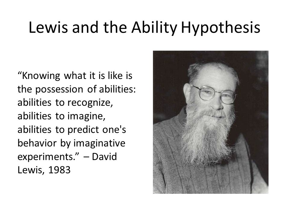 Lewis and the Ability Hypothesis