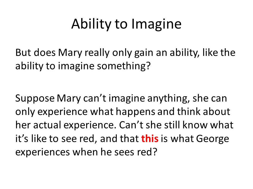 Ability to Imagine