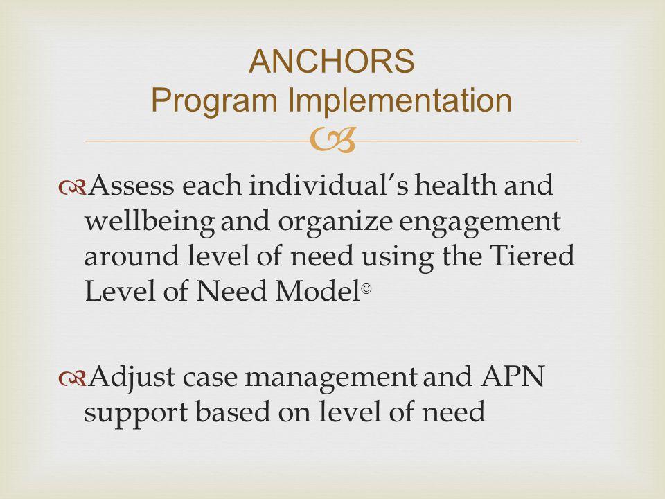 ANCHORS Program Implementation