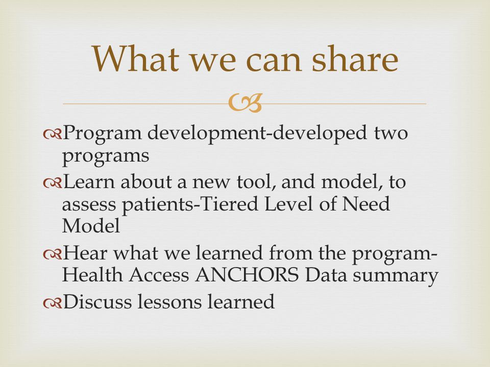 What we can share Program development-developed two programs