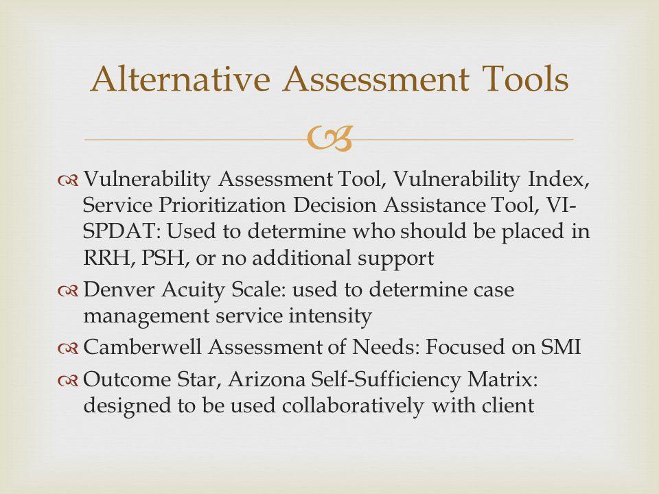 Alternative Assessment Tools