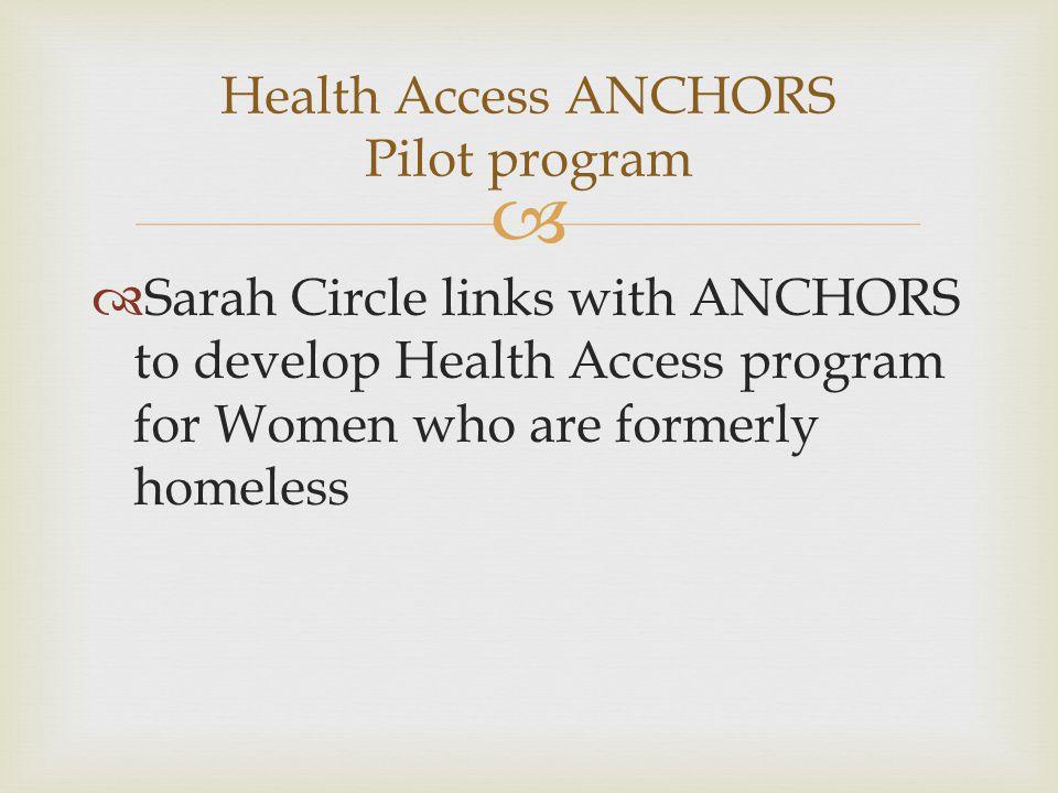 Health Access ANCHORS Pilot program