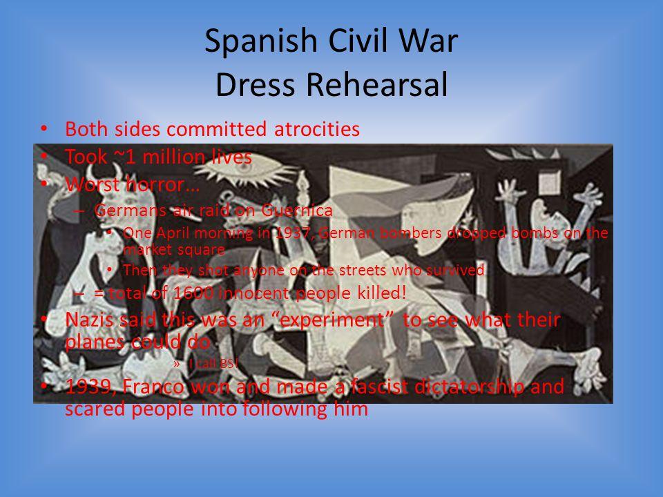 Spanish Civil War Dress Rehearsal