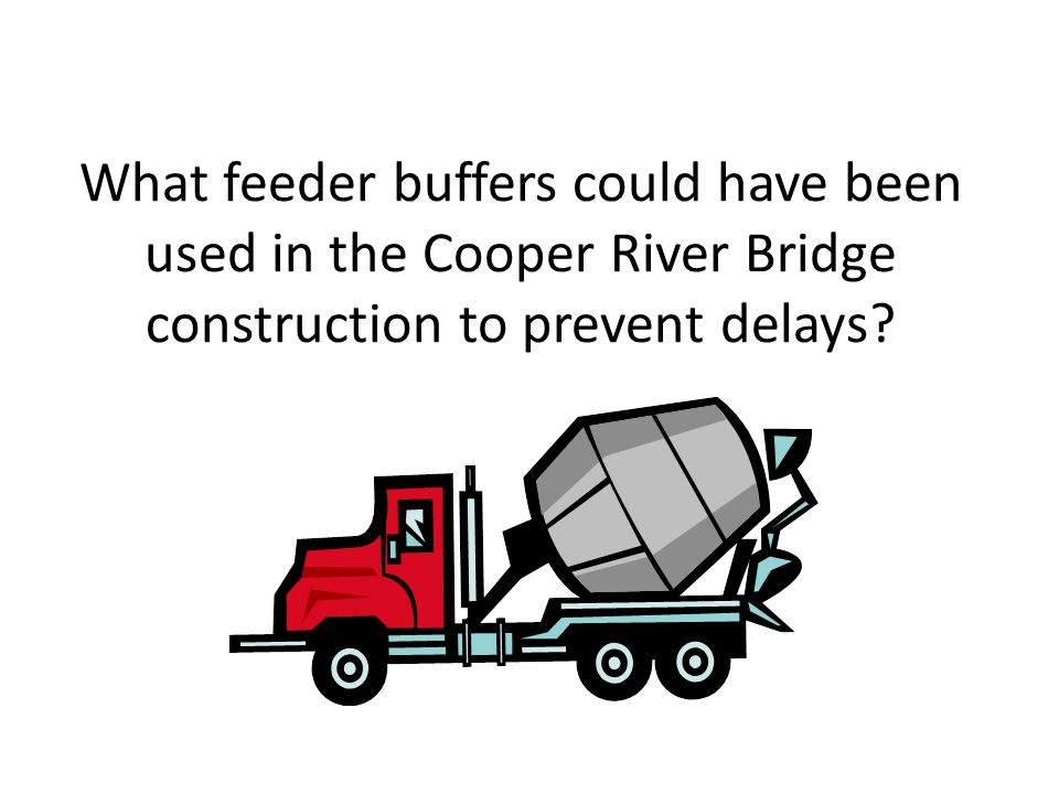 What feeder buffers could have been used in the Cooper River Bridge construction to prevent delays