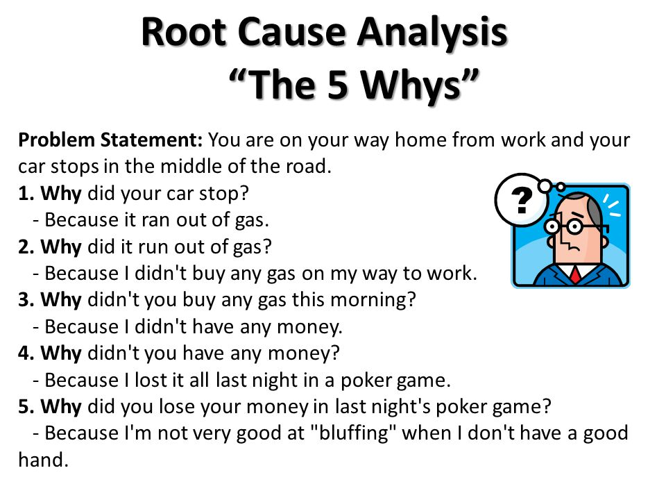Root Cause Analysis The 5 Whys