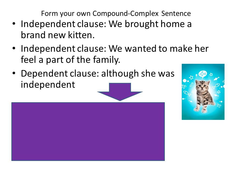 Form your own Compound-Complex Sentence