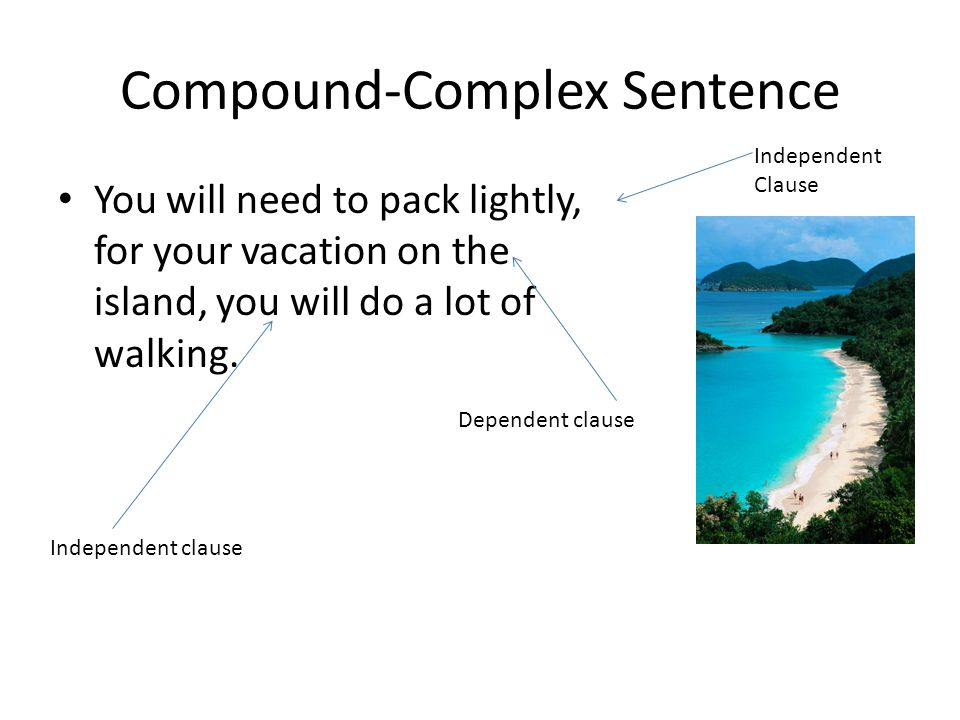how to write a complex sentence The complex sentence can also be flipped around: example: martin luther king,  jr inspires many today, though he died in 1968 independent clause comma.