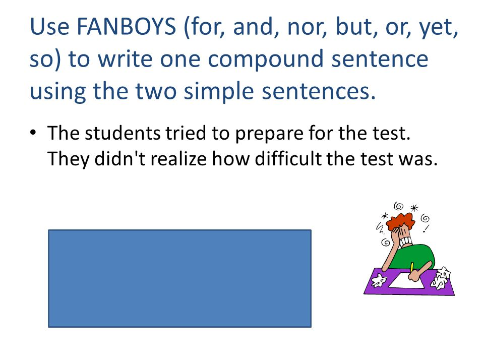 Simple compound sentences worksheet pdf