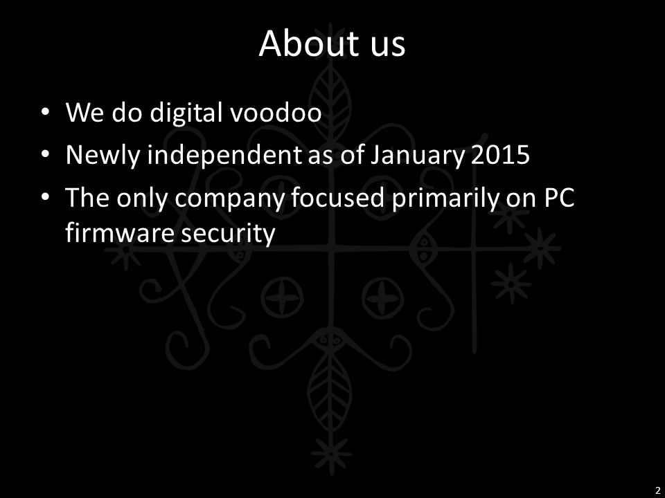 About us We do digital voodoo Newly independent as of January 2015