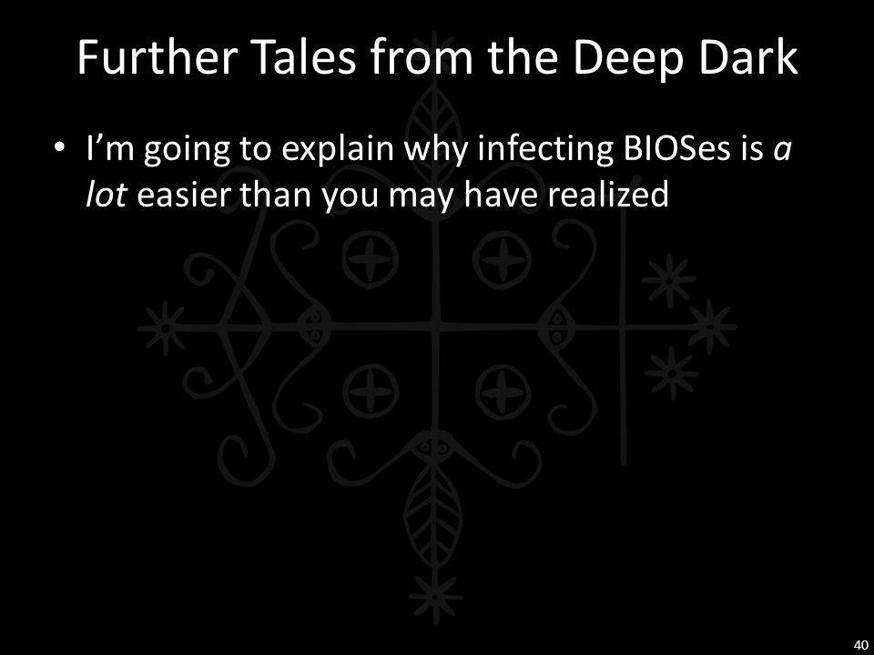 Further Tales from the Deep Dark