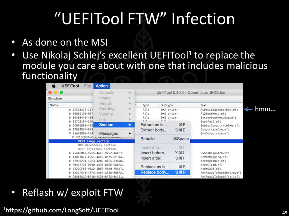 UEFITool FTW Infection
