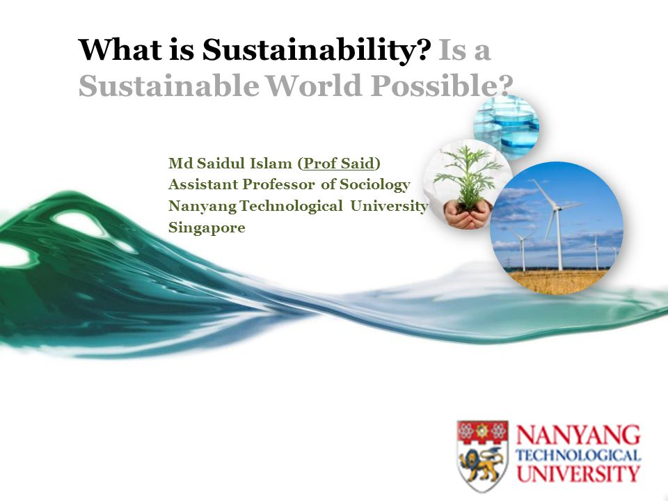 What is Sustainability Is a Sustainable World Possible