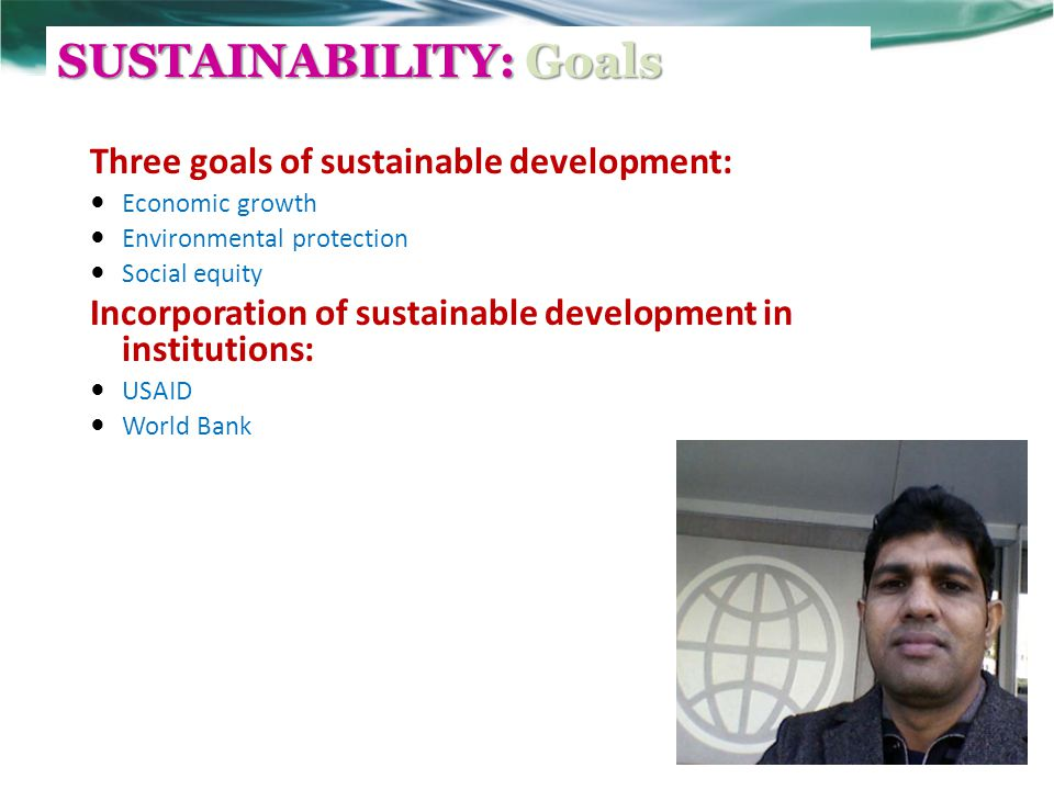 SUSTAINABILITY: Goals
