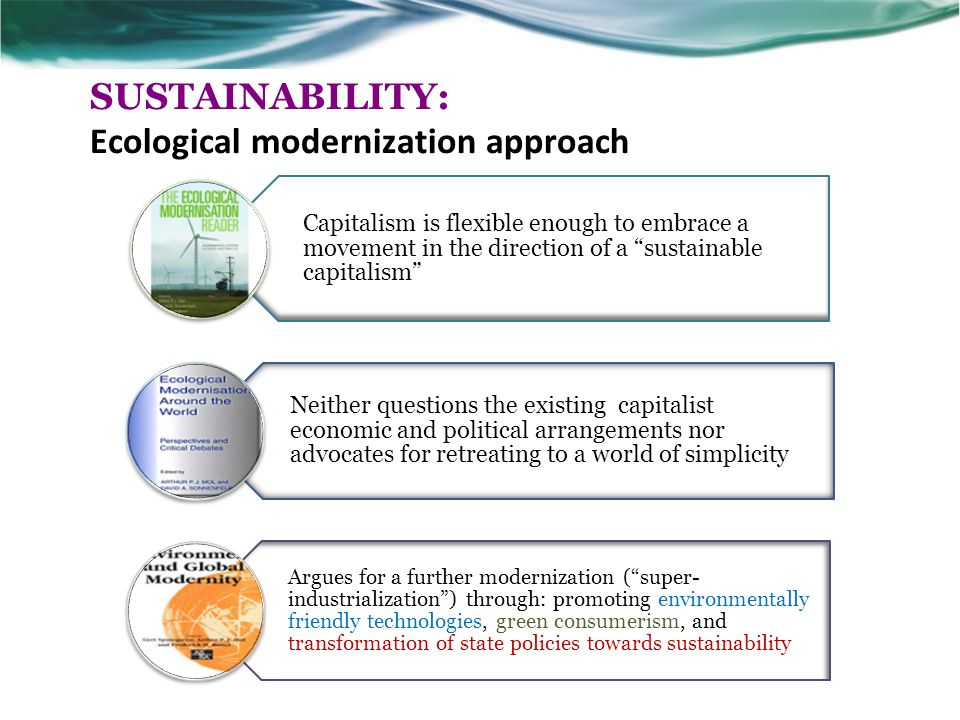 SUSTAINABILITY: Ecological modernization approach