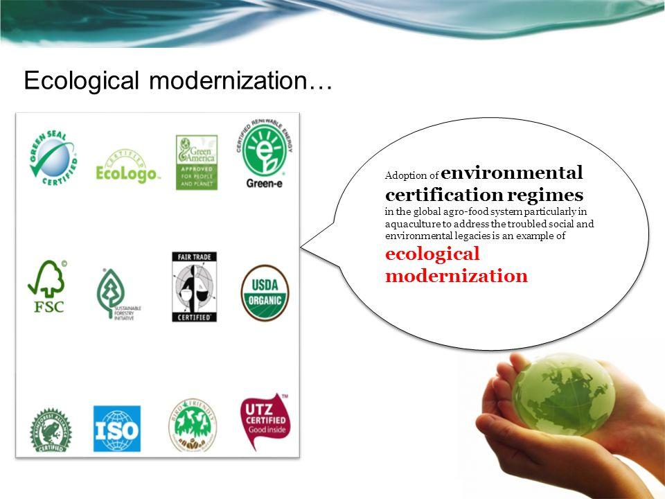 Ecological modernization…