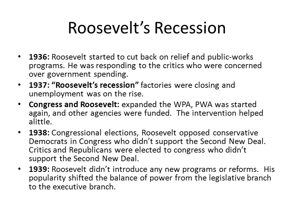 Roosevelt's Recession