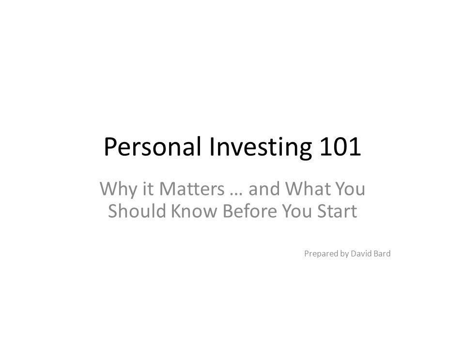 Why it Matters … and What You Should Know Before You Start