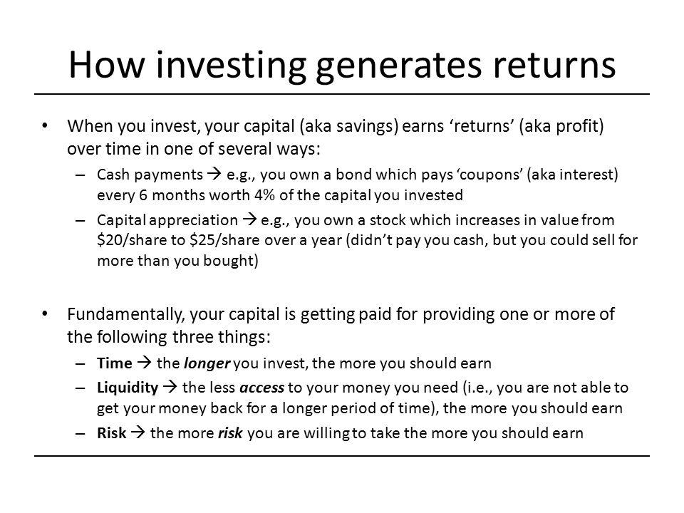 How investing generates returns