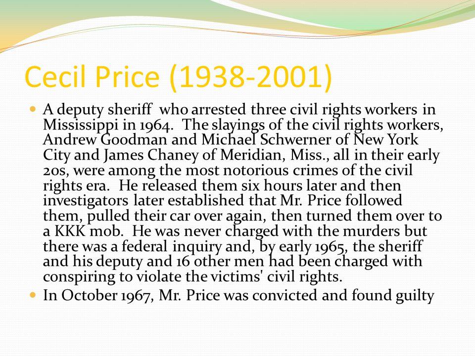 Cecil Price (1938-2001)