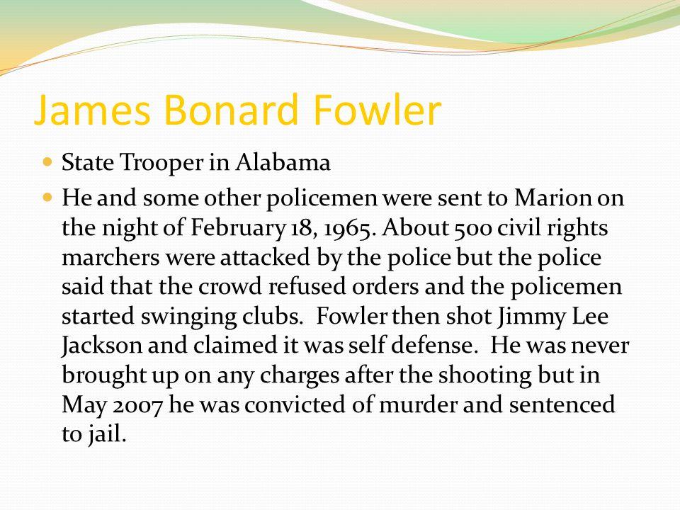 James Bonard Fowler State Trooper in Alabama