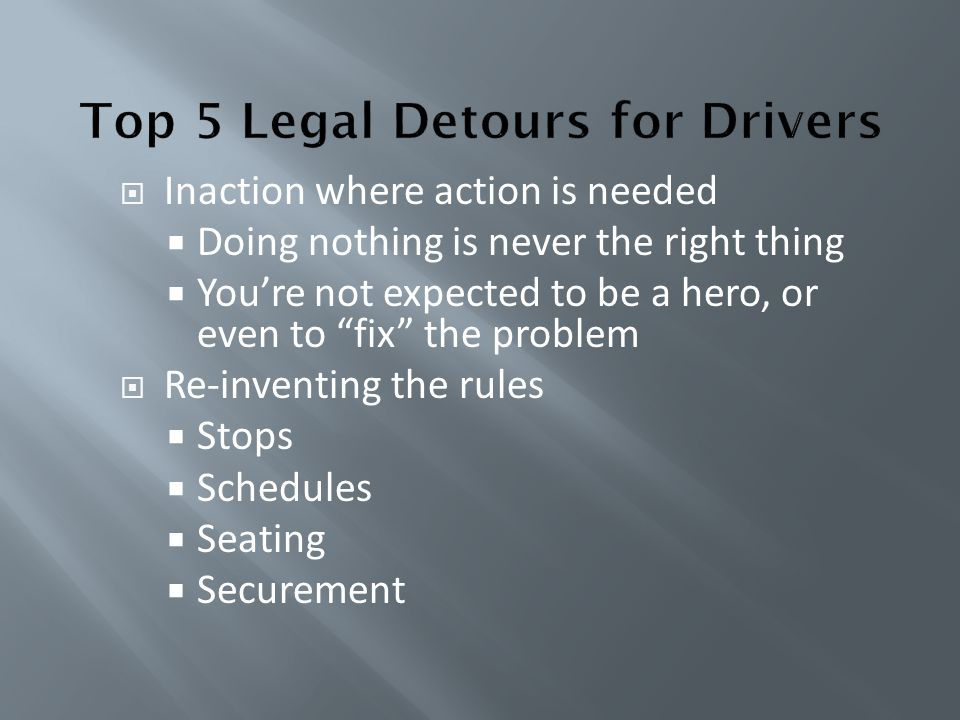 Top 5 Legal Detours for Drivers