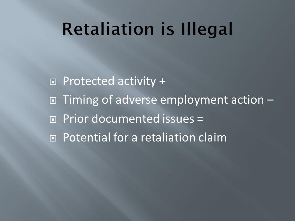 Retaliation is Illegal
