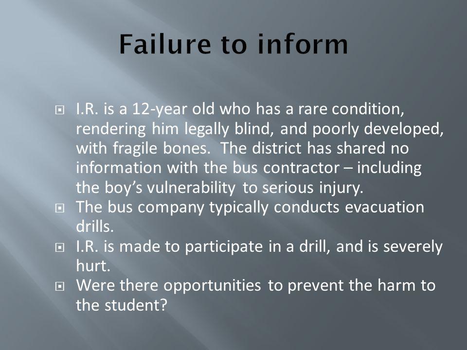 Failure to inform