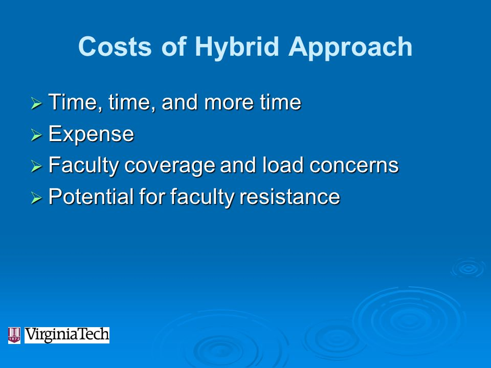 Costs of Hybrid Approach