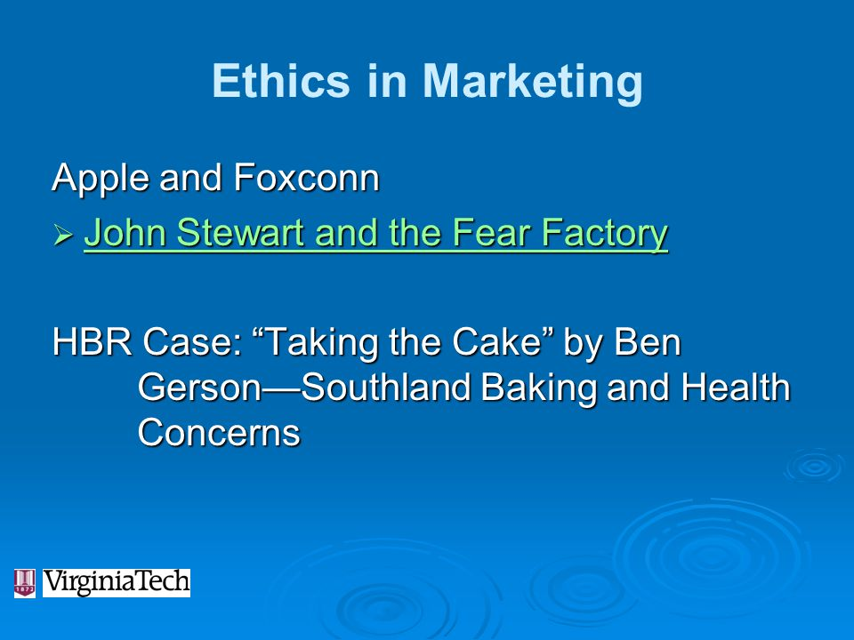 Ethics in Marketing Apple and Foxconn