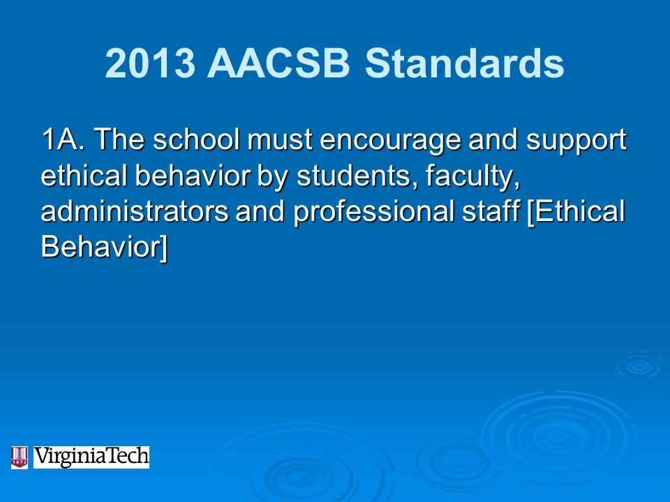 2013 AACSB Standards