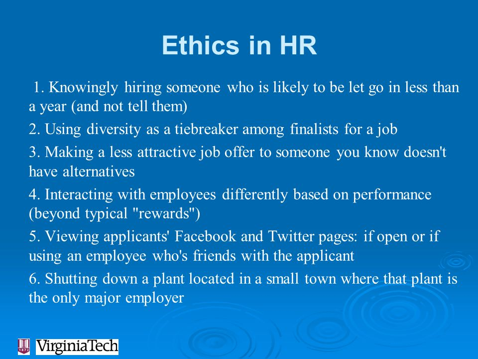 Ethics in HR