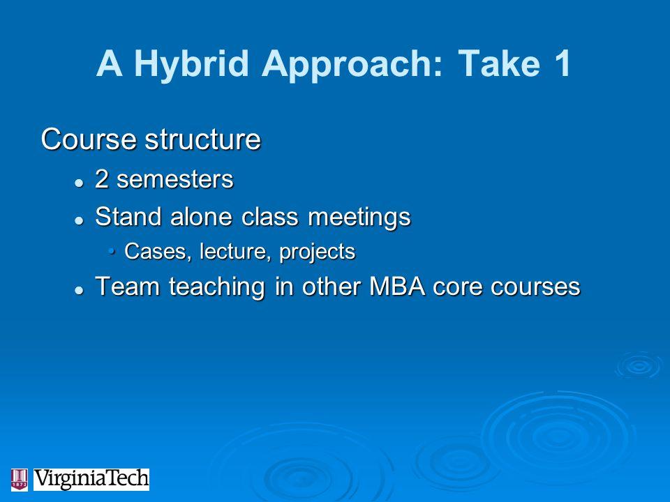 A Hybrid Approach: Take 1