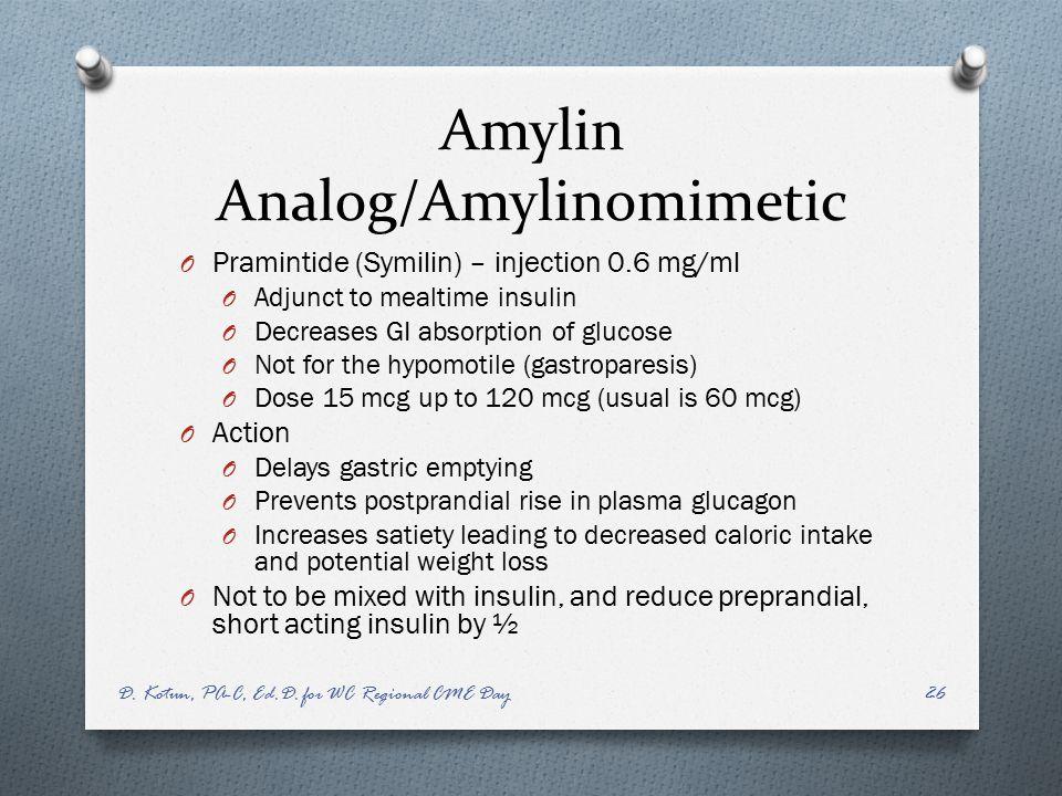 Amylin Analog/Amylinomimetic