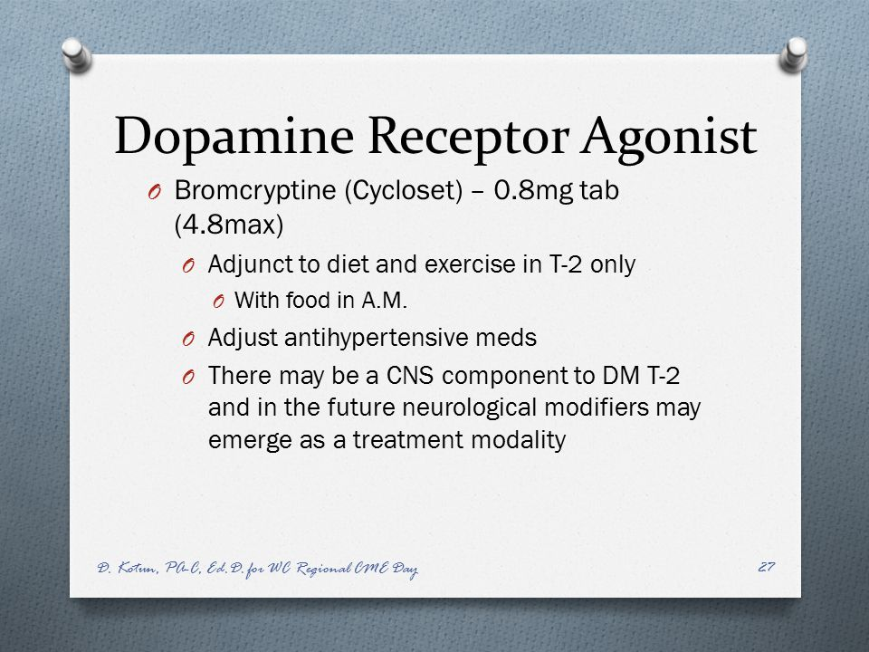 Dopamine Receptor Agonist