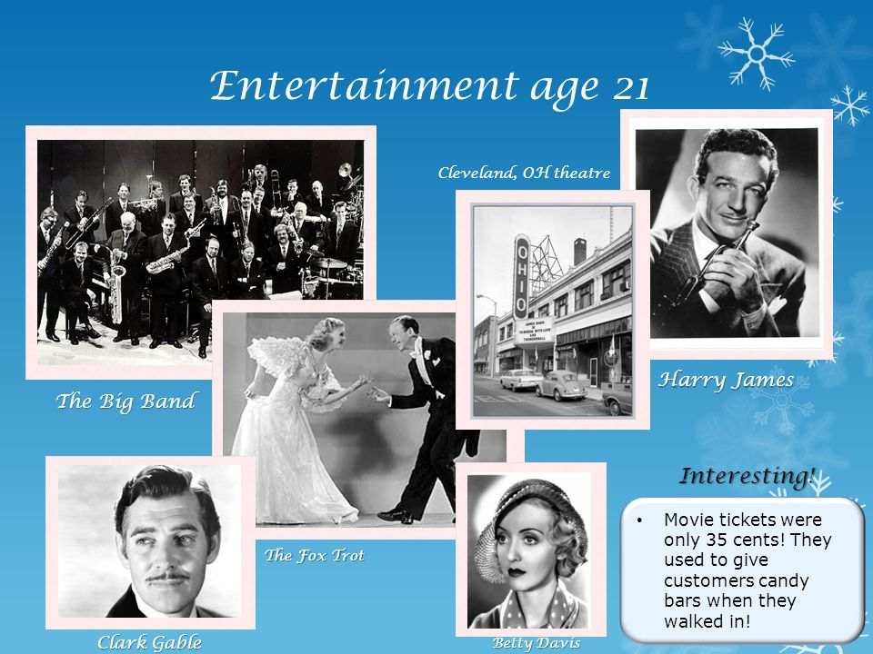 Entertainment age 21 Interesting! Harry James The Big Band