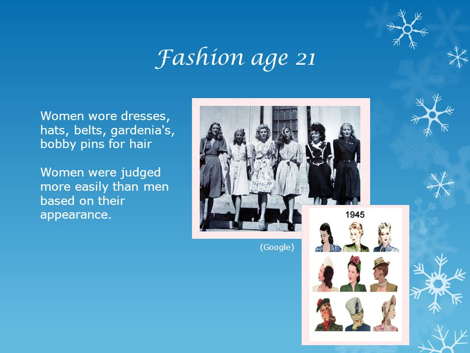Fashion age 21 Women wore dresses,