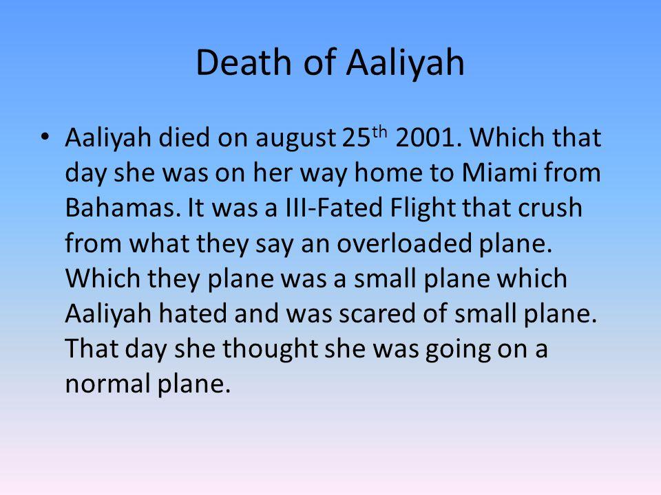 Death of Aaliyah