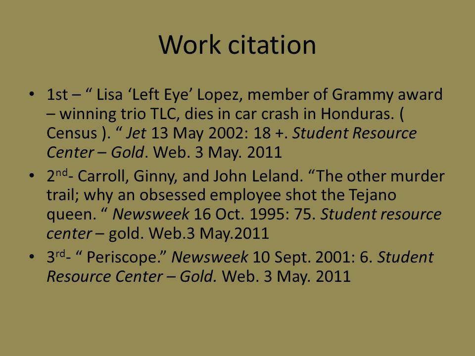 Work citation