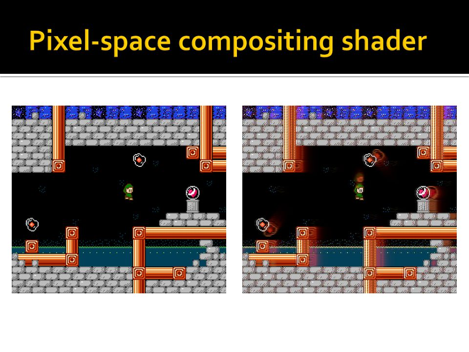 Pixel-space compositing shader