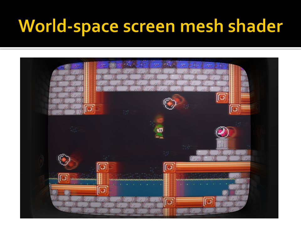 World-space screen mesh shader
