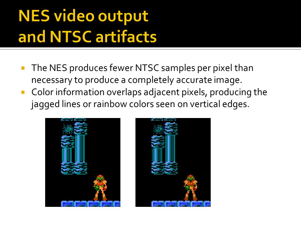 NES video output and NTSC artifacts