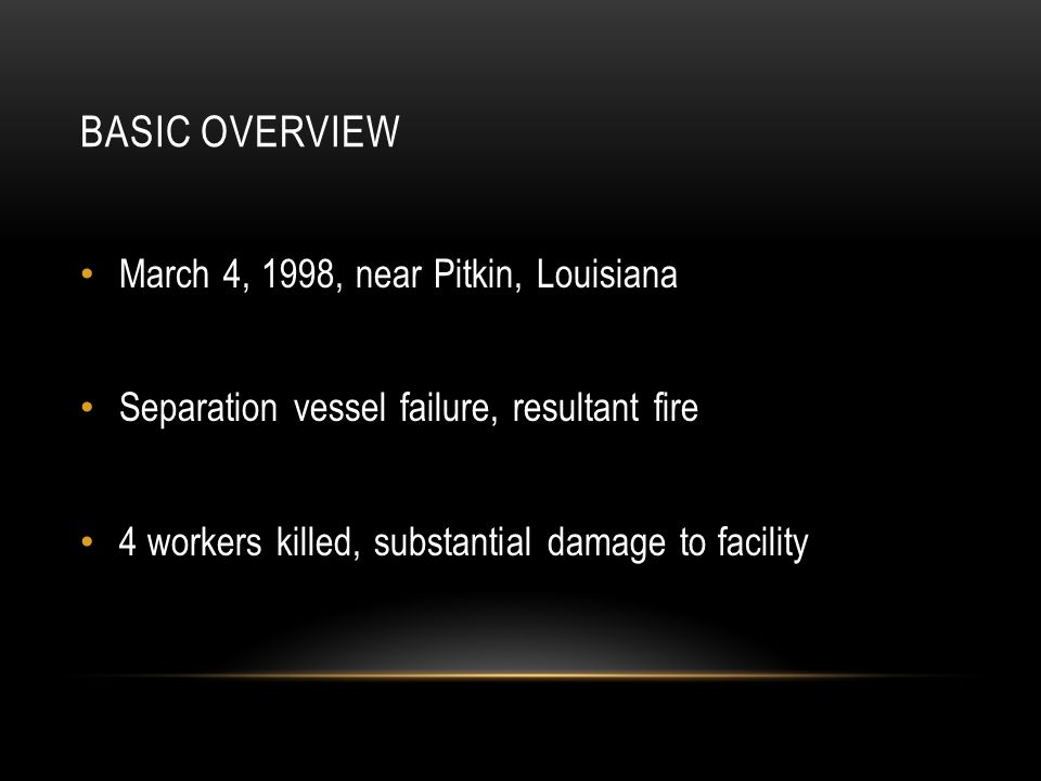 Basic Overview March 4, 1998, near Pitkin, Louisiana