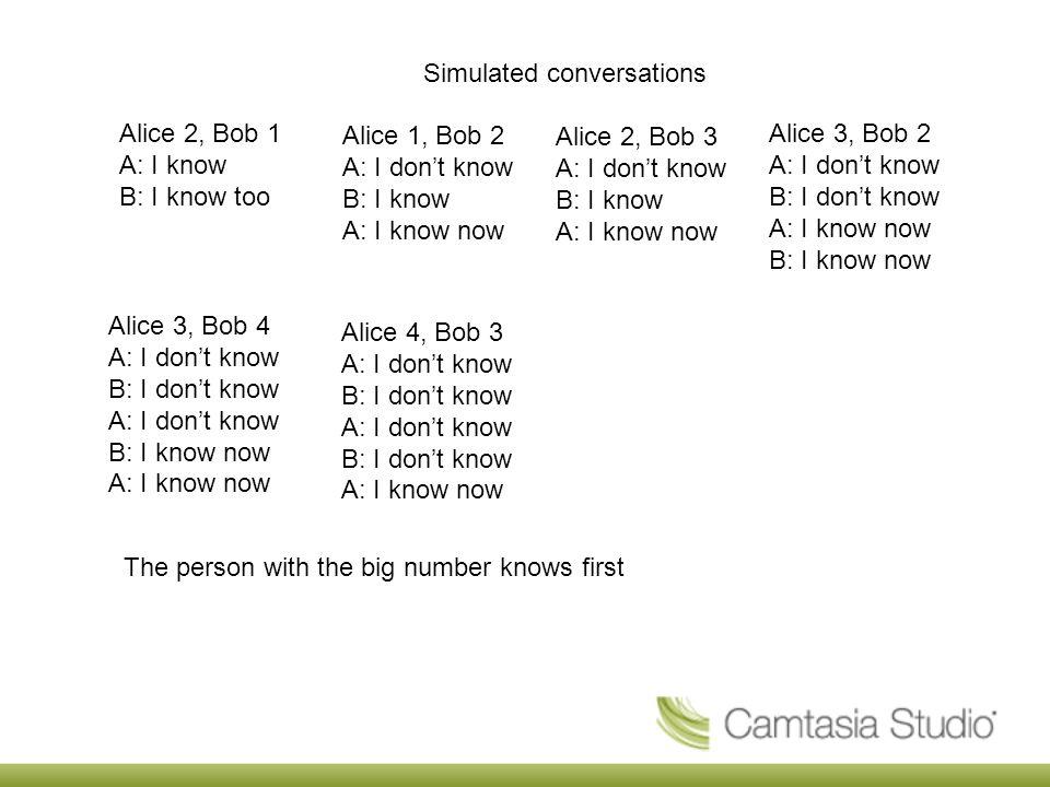 Simulated conversations