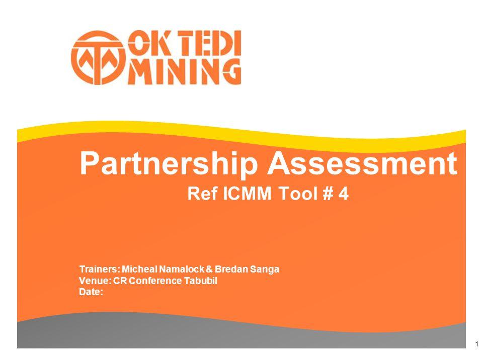 Partnership Assessment Ref ICMM Tool # 4