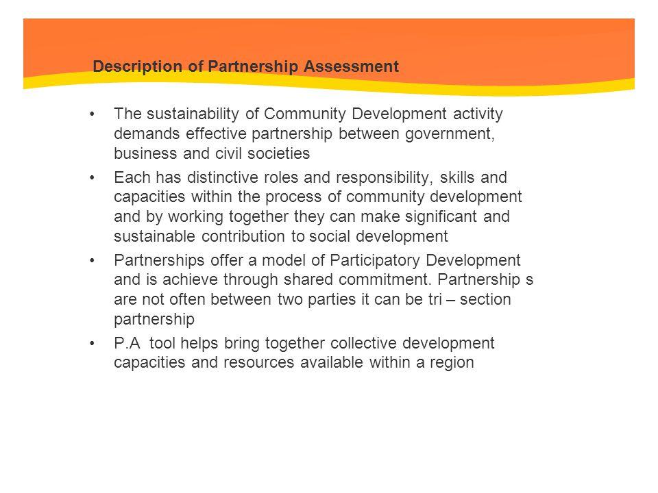 Description of Partnership Assessment