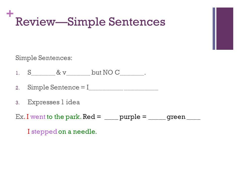 Review—Simple Sentences