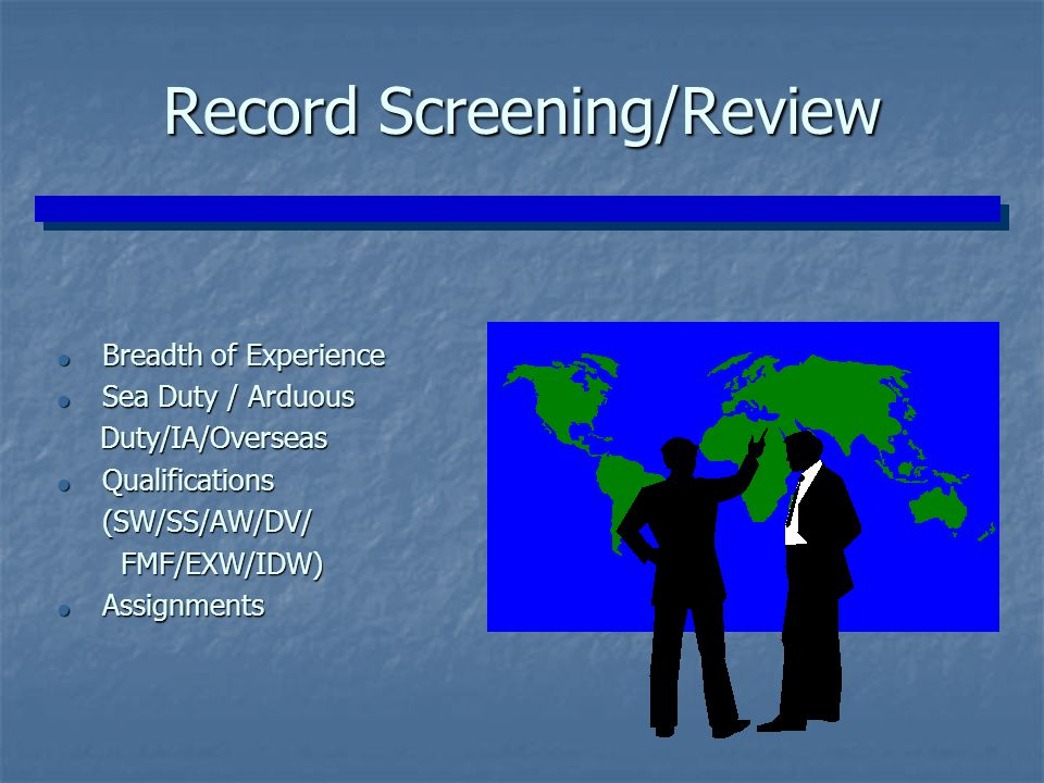 Record Screening/Review