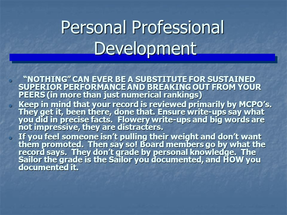 Personal Professional Development