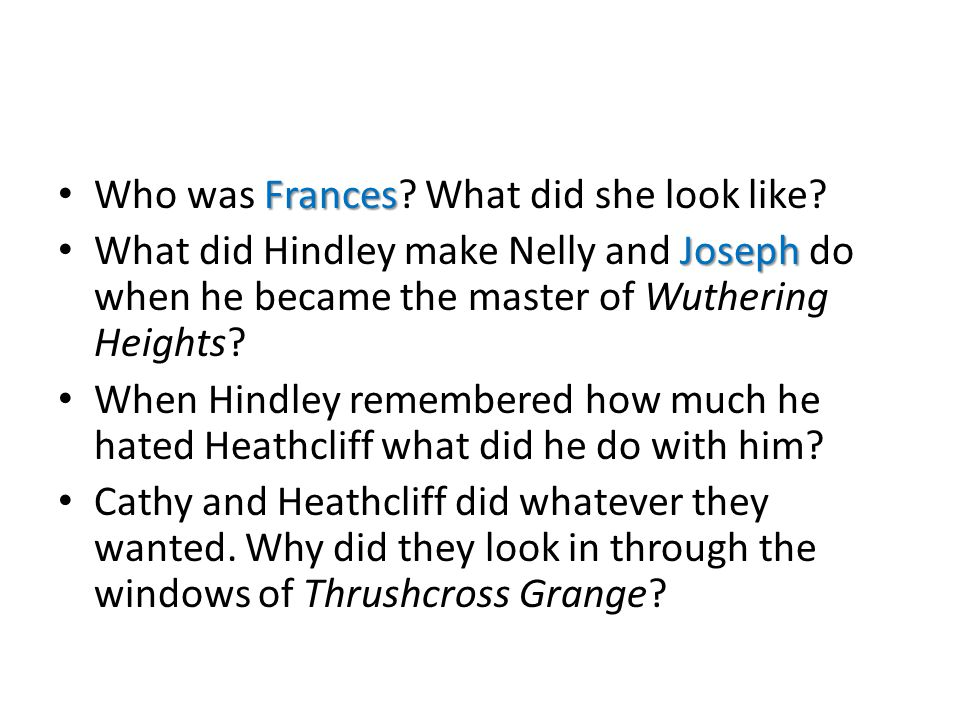 Who was Frances What did she look like