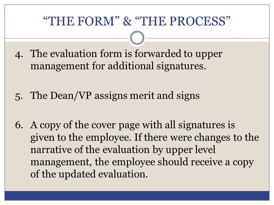 THE FORM & THE PROCESS